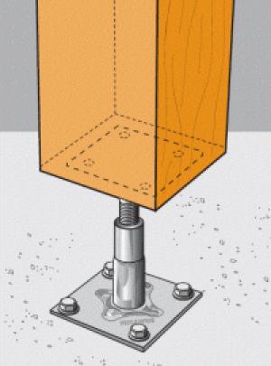 Herrajes estructurales para madera y vigas de madera maderas hermanos guillen - Pilares de hierro ...