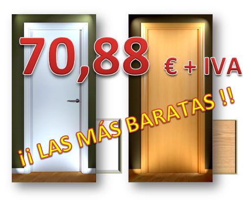 Puertas de melamina en block oferta maderas hermanos for Puertas para interior baratas