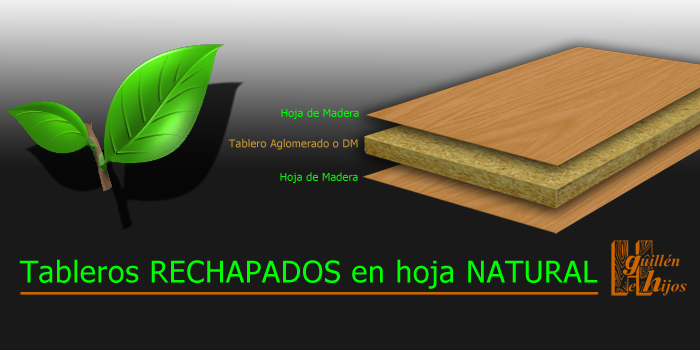 Tableros Rechapados con Hoja Natural