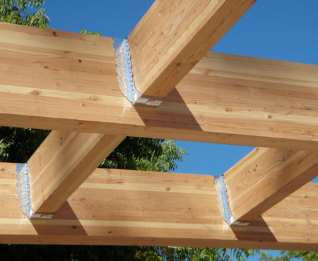 Uniones vigas de madera