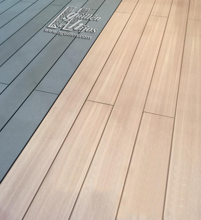 Tarima tecnol gica para exterior maderas hermanos guillen - Suelo composite exterior ...