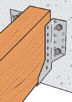 Estribos de alas exteriores. Herraje estructural para vigas Simpson Strong Tie.