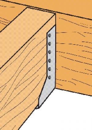 Estribos de alas interiores. Herraje estructural para vigas Simpson Strong Tie.