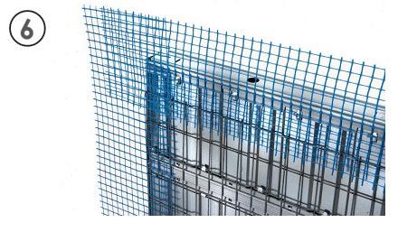 Malla fibra de vidrio de casoneto