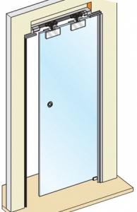 Casoneto puerta de cristal mordazas