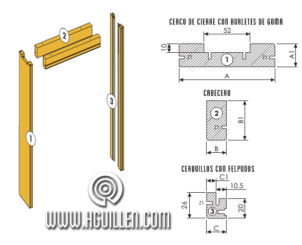 kit cercos casoneto - kit molduras casoneto