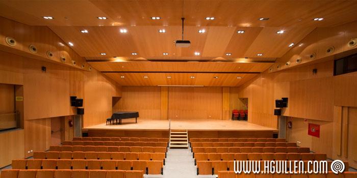 Auditorio con tableroRechapado con hoja de madera naturalnatural