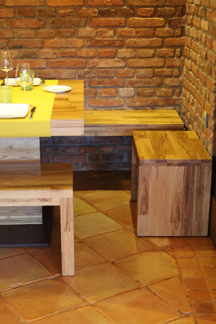 Muebles de tablero alistonado macizo