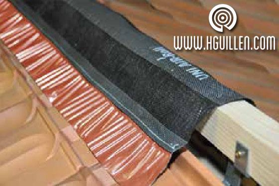 Rejilla ventilación Cumbrera banda adhesiva butilo Aluminio