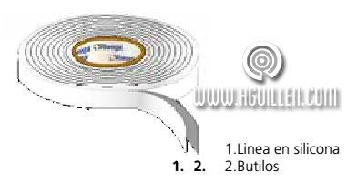 cinta butilo adhesiva doble cara passivehaus