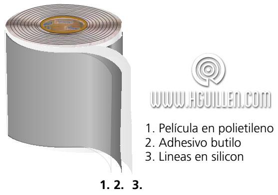 cinta butilo adhesiva a una cara passivehaus