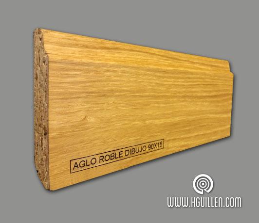 Rodapié rechapado madera natural barnizado