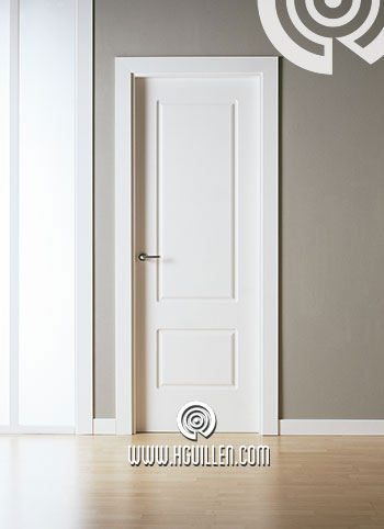 Puerta 2 Cuadros Lacada