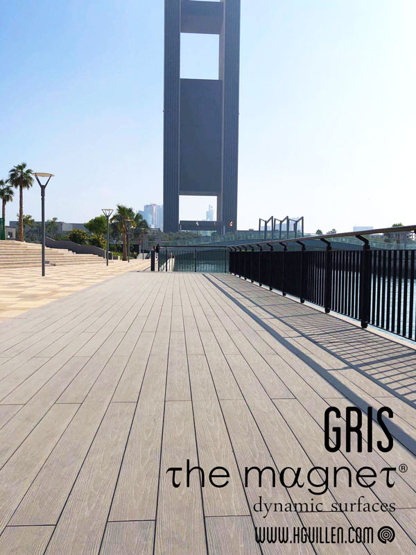 Tarima Exterior composite WPC Gris desmontable Magnet. Almacén de tarimas en Madrid.