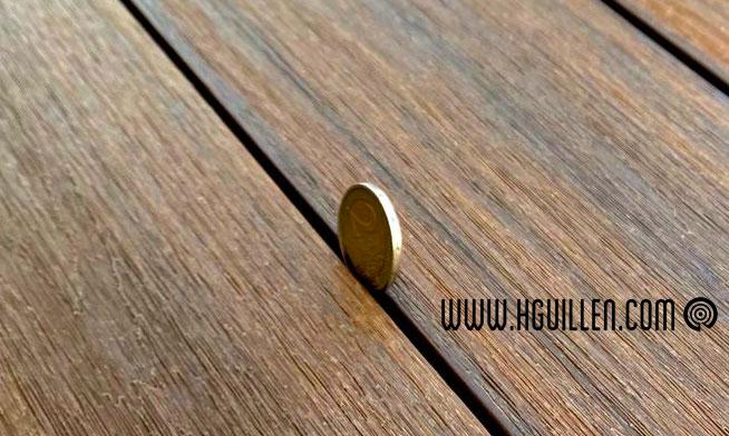 Fijacion Oculta. Tarima exterior composite WPC Magnet