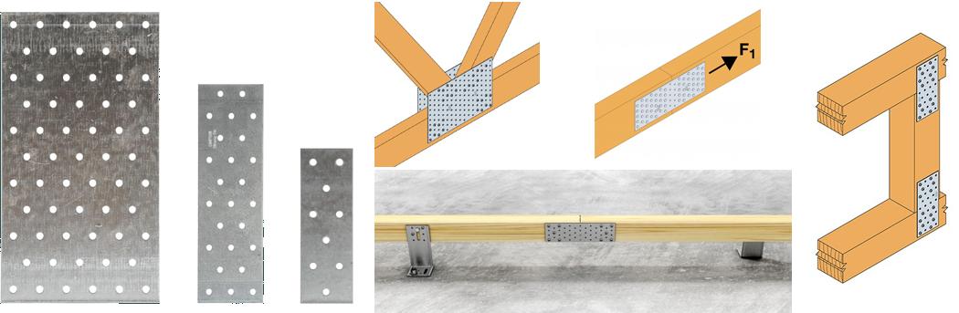 Placas Perforadas. Herraje estructural para vigas Simpson Strong Tie.