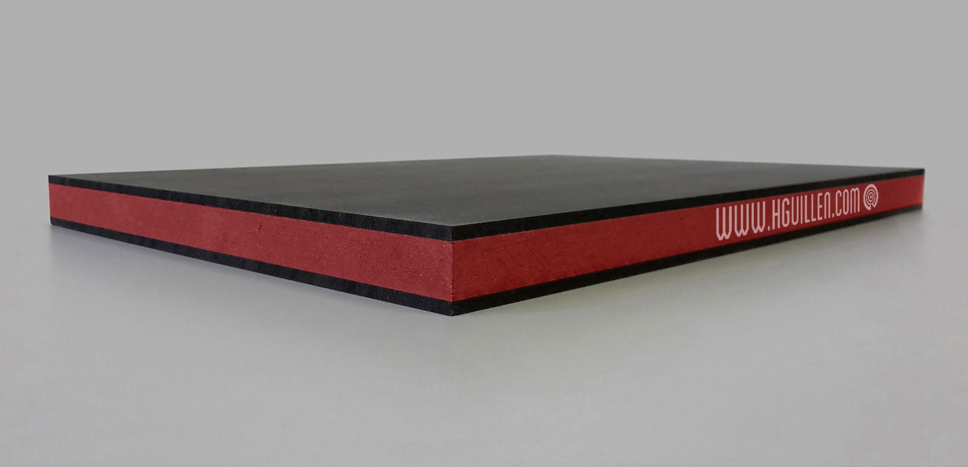 Twincolour Finsa Negro Rojo Negro