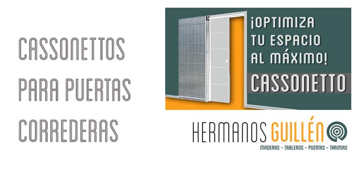 Almacen de casonetos para puertas correderas en Madrid