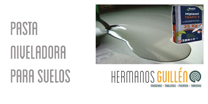 Almacen de tarimas en Madrid. Pasta autonivelante niveladora Bostik
